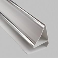 Плинтус ПВХ Хром 3,0 м (30 мм)