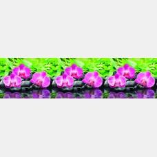 "Кухонный фартук ПВХ ""Орхидея"" 0,61*3,02 м."