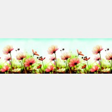 "Кухонный фартук ПВХ ""Пчелки"" 0,61*3,02 м."