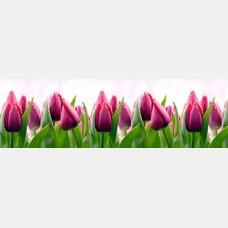 """Кухонный фартук ПВХ """"Тюльпаны"""" 0,61*3,02 м."""