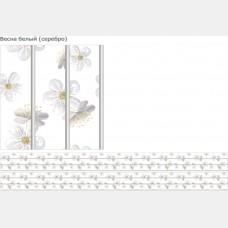 """Панель ПВХ Cофитто 3 """"Серебро"""" Весна белая 0,24*2,7м"""